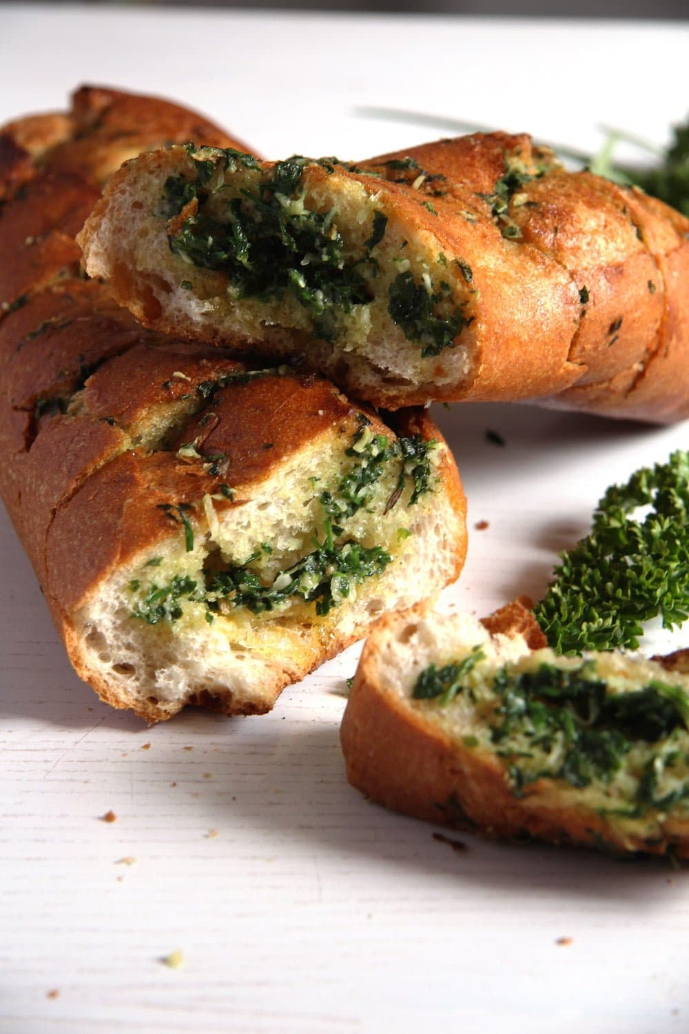 herb bread Homemade Fresh Herb Garlic Baguette