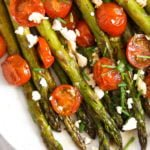 how to roast asparagus and tomatoes recipe
