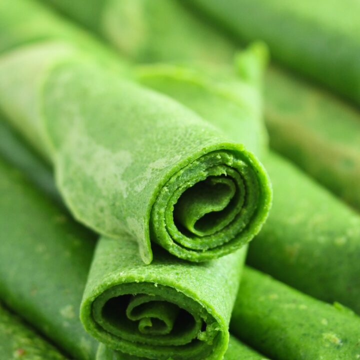 rolled wild garlic crepes ready to be served