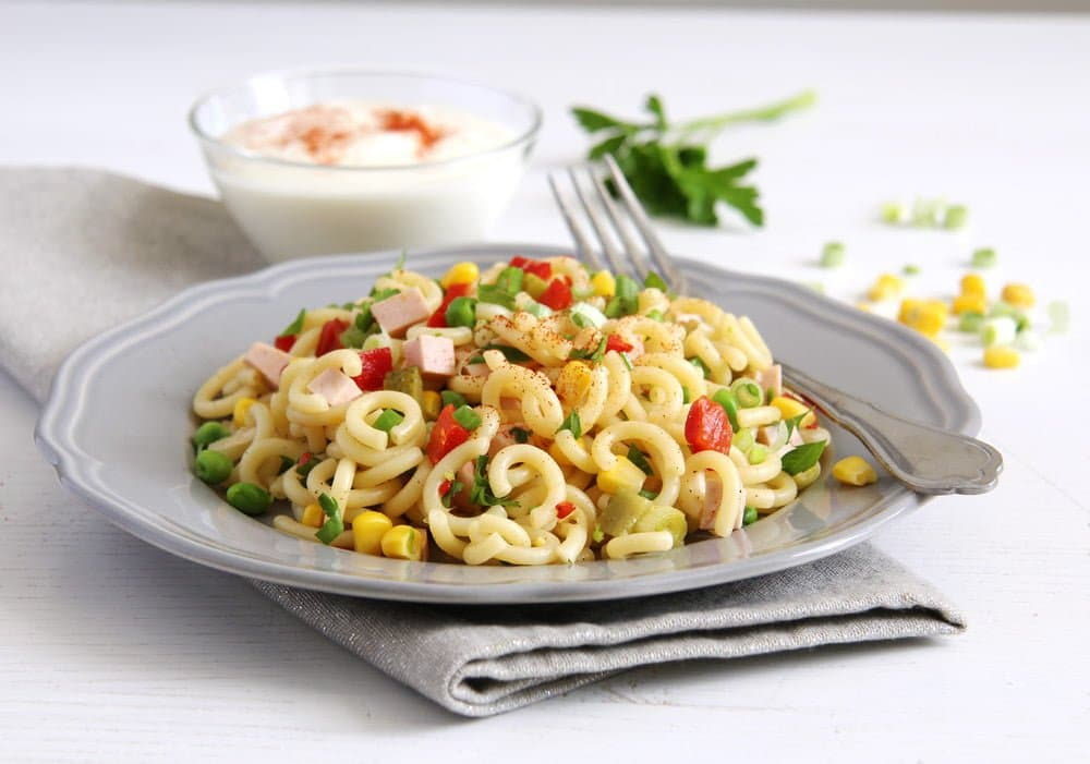 german pasta salad with sausage