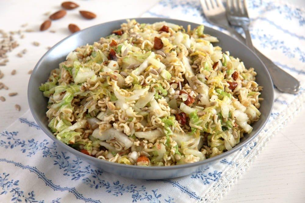 ramen noodle cabbage Ramen Noodle Napa Cabbage Salad with Sunflower Seeds