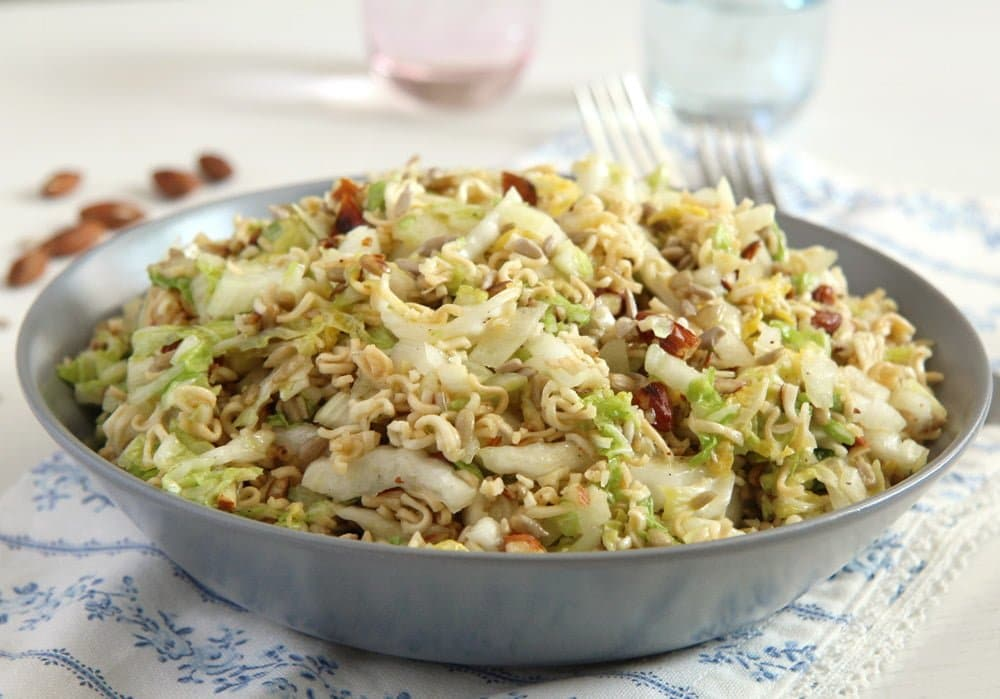 napa cabbage ramen salad bowl
