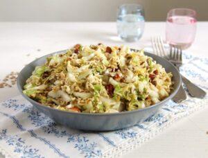 ramen noodle savoy cabbage 300x228 Ramen Noodle Napa Cabbage Salad with Sunflower Seeds