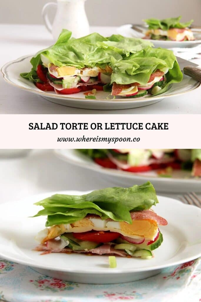salad torte with ham and cheese
