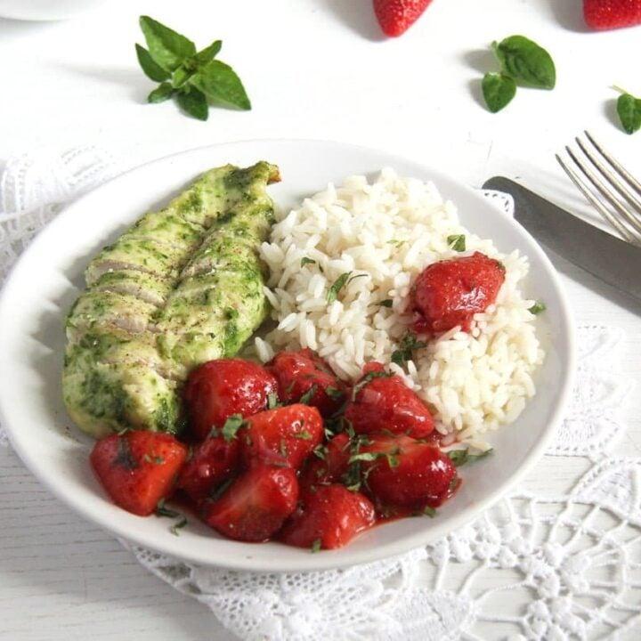 strawberry chutney for herbed chicken breast