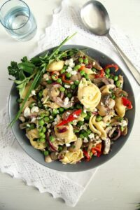 tortellini salad mushrooms 200x300 Tortellini Salad Recipe – German Salad