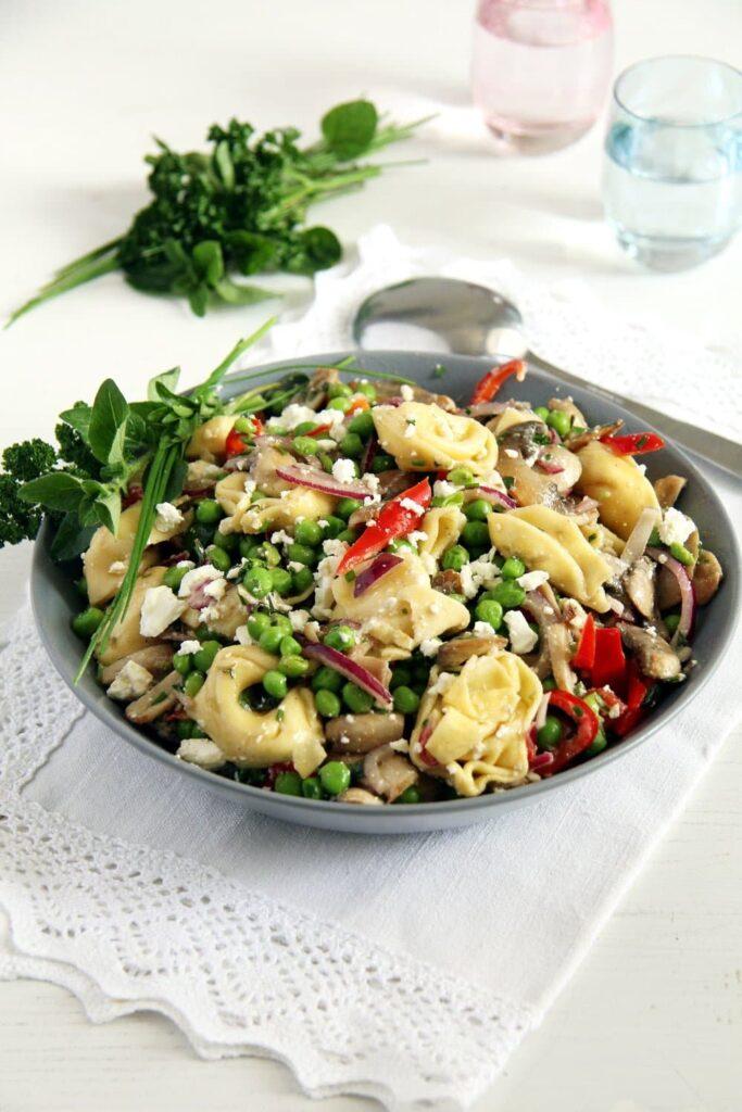 tortellini salad peas 683x1024 Tortellini Salad Recipe   German Salad