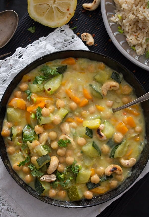 chickpea zucchini curry