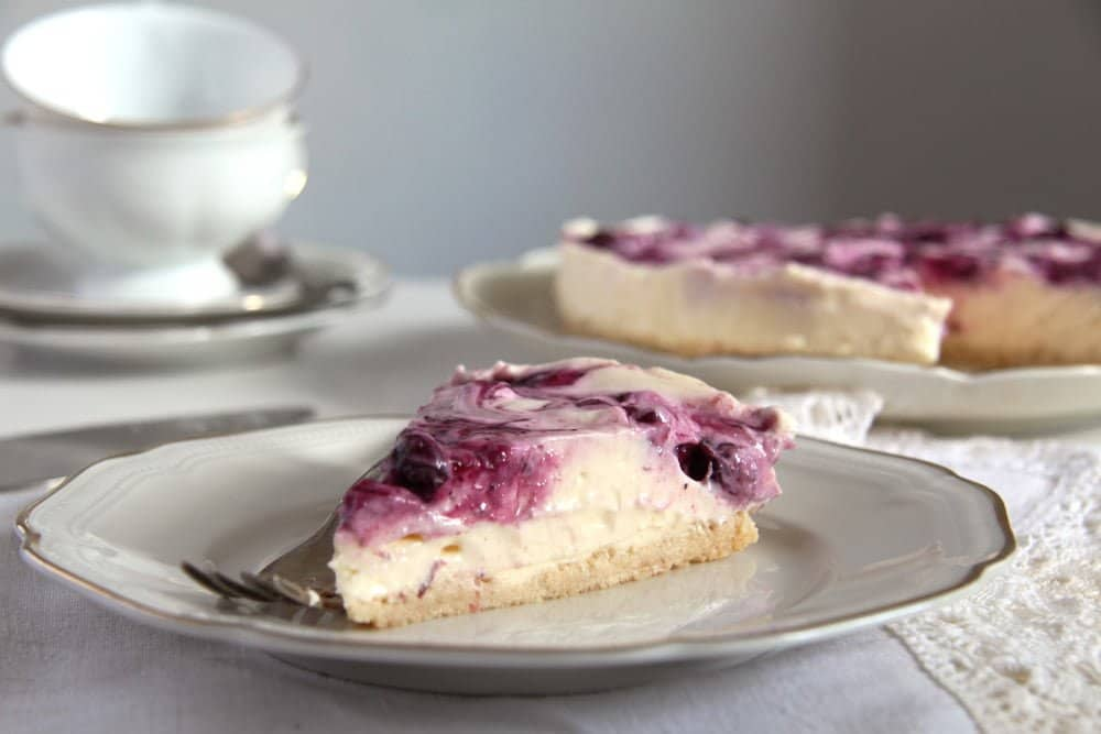 Blueberry Lemon Curd Cheesecake