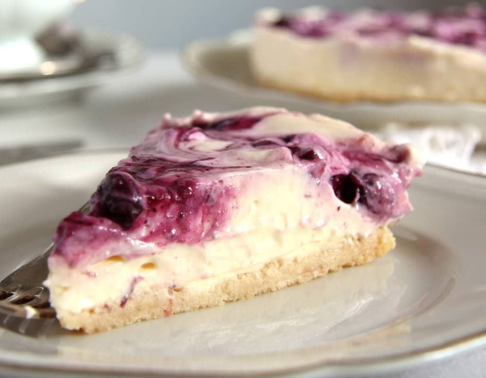 berry cheesecake fg No Bake Blueberry Lemon Curd Cheesecake with Mascarpone