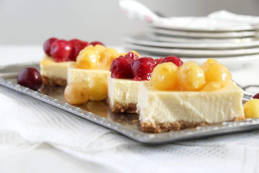 cherry cheesecake philadelp Creamy Cheesecake with Fresh Cherry Pie Filling