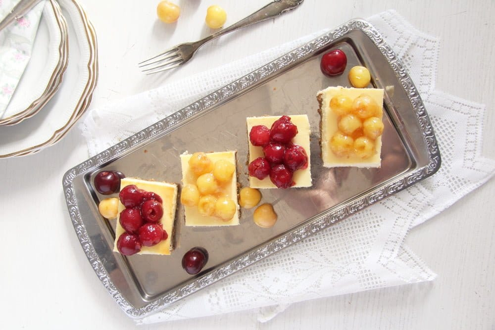 cherry cheesecake summer Creamy Cheesecake with Fresh Cherry Pie Filling