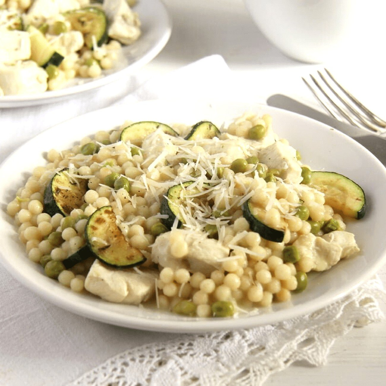 Chicken Israeli Couscous with Zucchini
