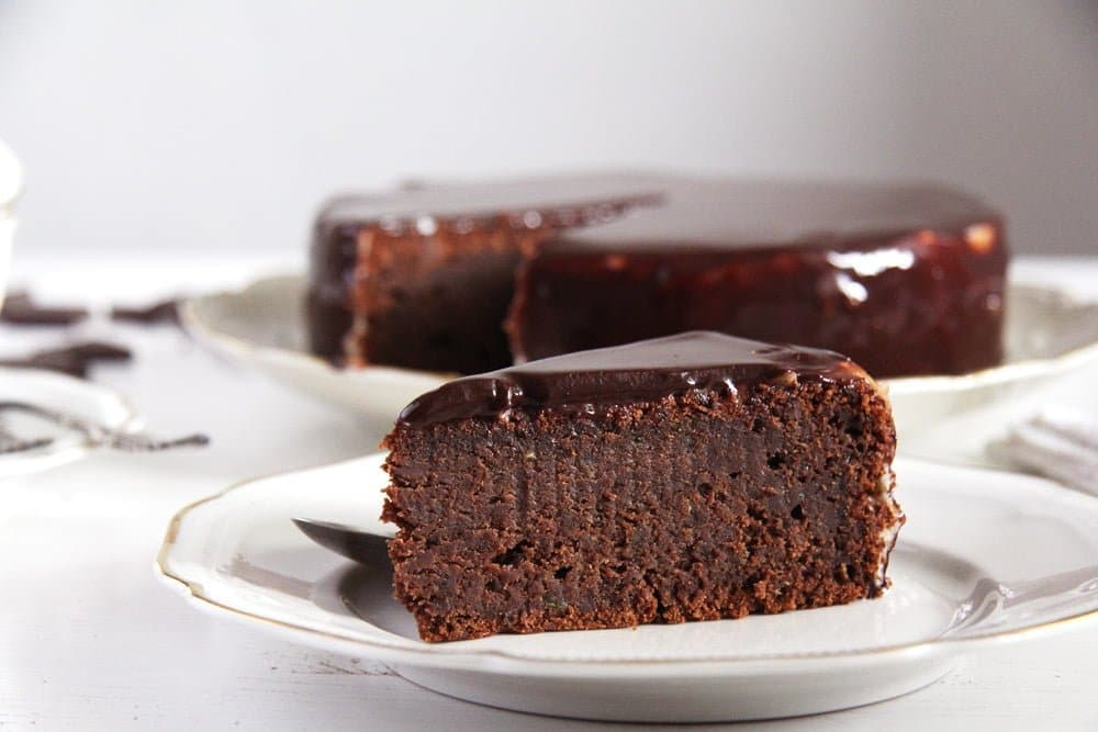 chocolate cake zucchini Dark Chocolate Zucchini Cake with Mirror Glaze