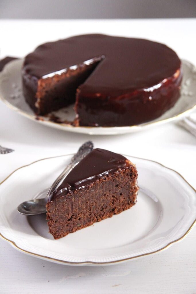 Mirror Glaze Chocolate Zucchini Cake