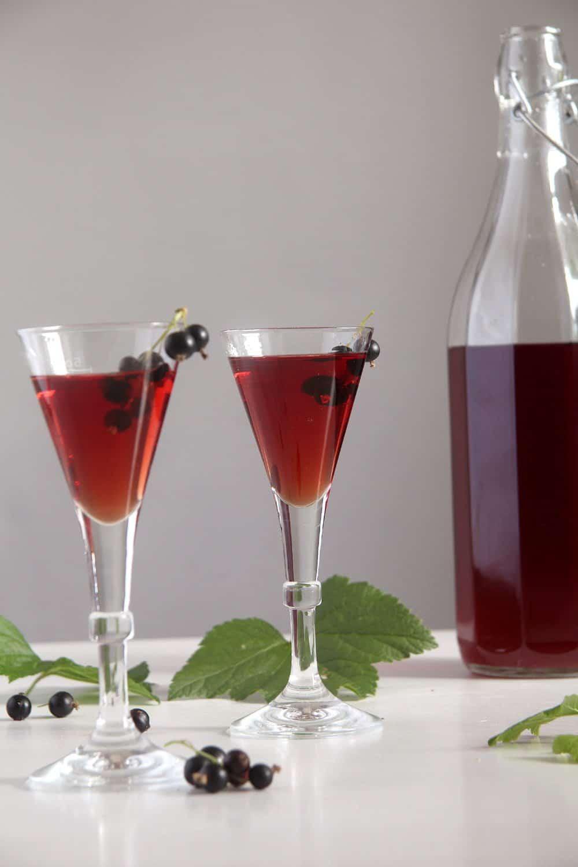 creme cassis drinks Homemade Crème de Cassis or Black Currant Liquor