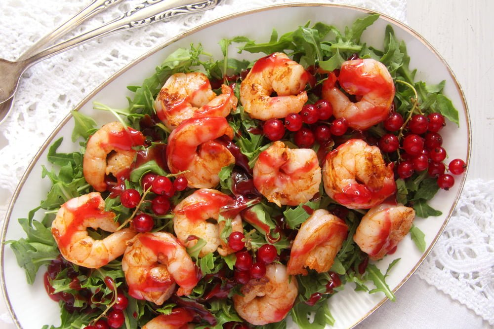 Tiger Prawns with Red Currant Sauce