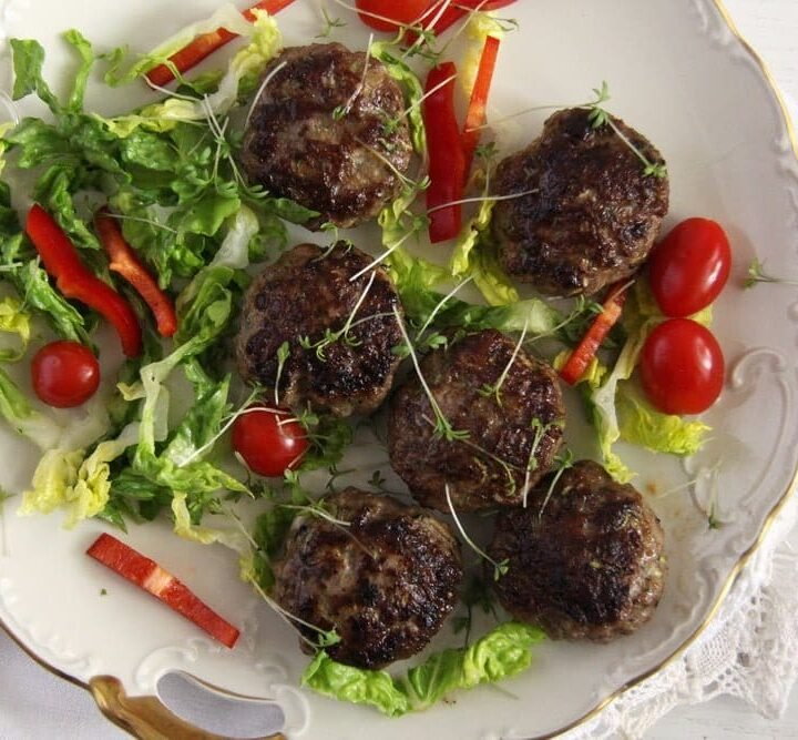 meatballs with zucchini and beef