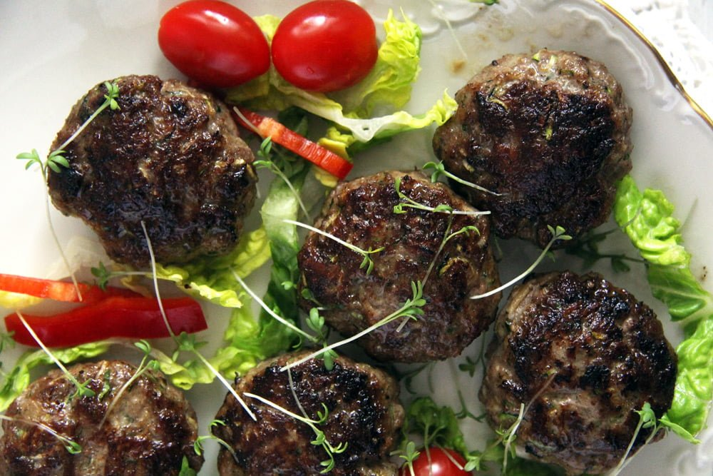 zucchini meatballs salad Easy Beef Meatloaf with Hard Boiled Egg