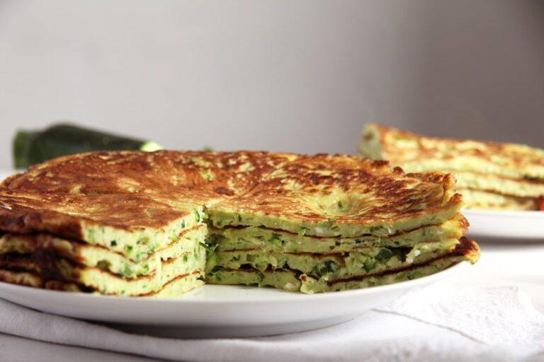 , Zucchini Feta Pancakes with Herbs