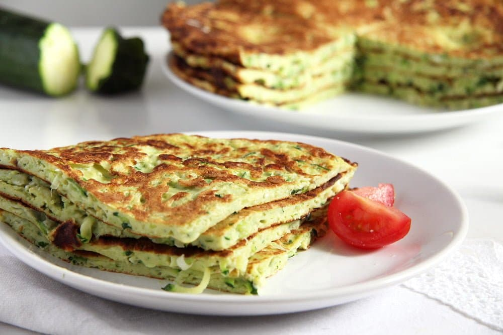 zucchini pancakes Beetroot Crepes with Cream Cheese and Horseradish Filling