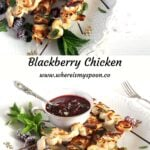 blackberry sauce for meat ready to be served