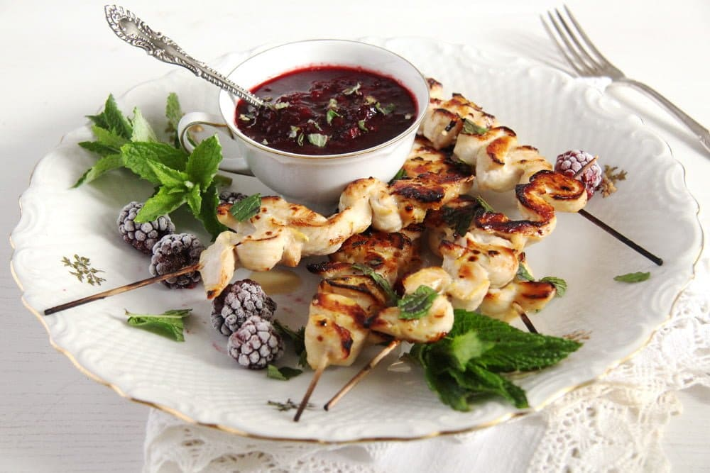 Chicken Skewers with Blackberry Sauce | Where Is My Spoon - Easy and ...