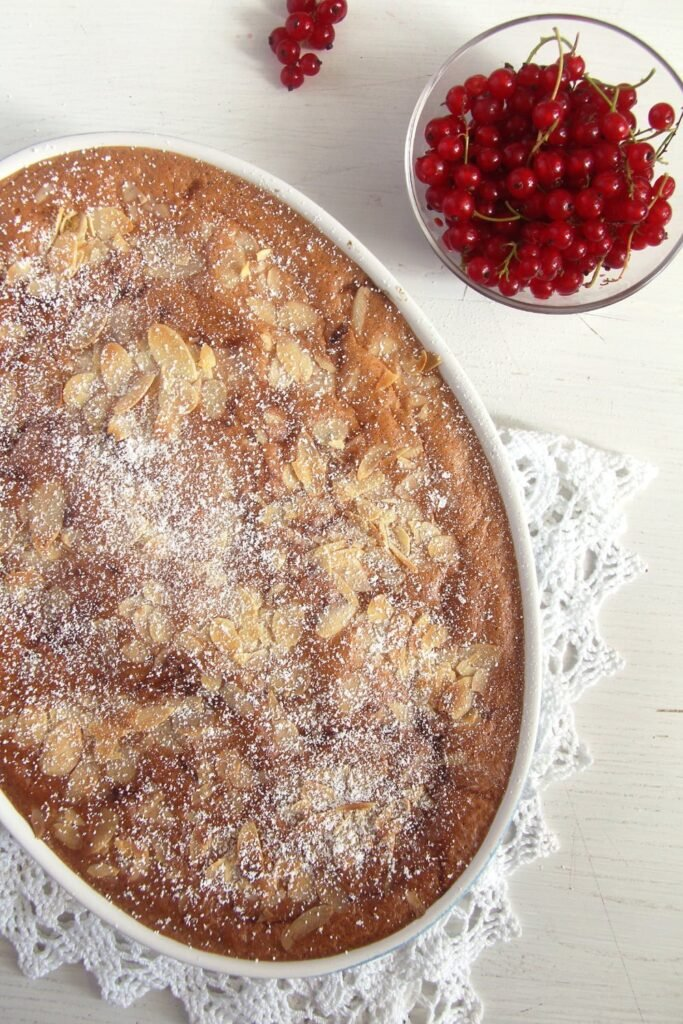 red currants cake 683x1024 Easy Red Currant Cobbler with Almonds