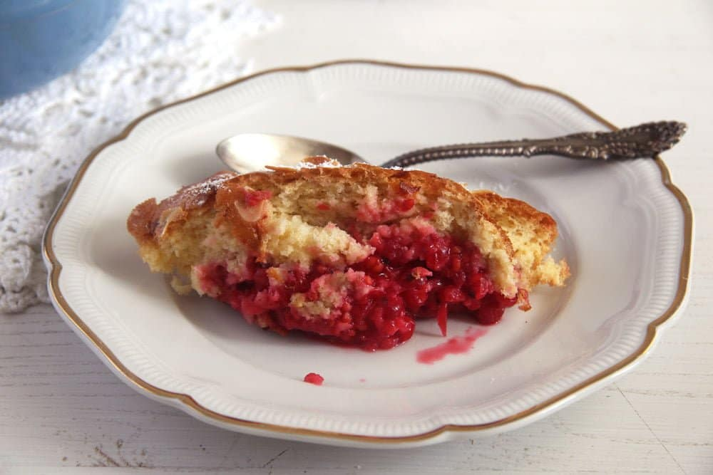 red currants casserole Easy Red Currant Cobbler with Almonds
