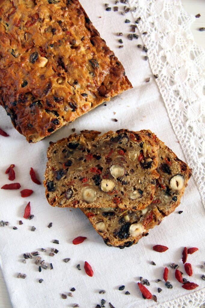 trail mix apple cake 683x1024 Trail Mix Apple Bread with Hazelnuts and Spices