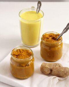 golden milk paste turmeric 239x300 Golden Turmeric Ginger Pepper Tea for Sore Throat