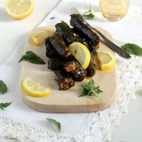 Syrian stuffed vine leaves