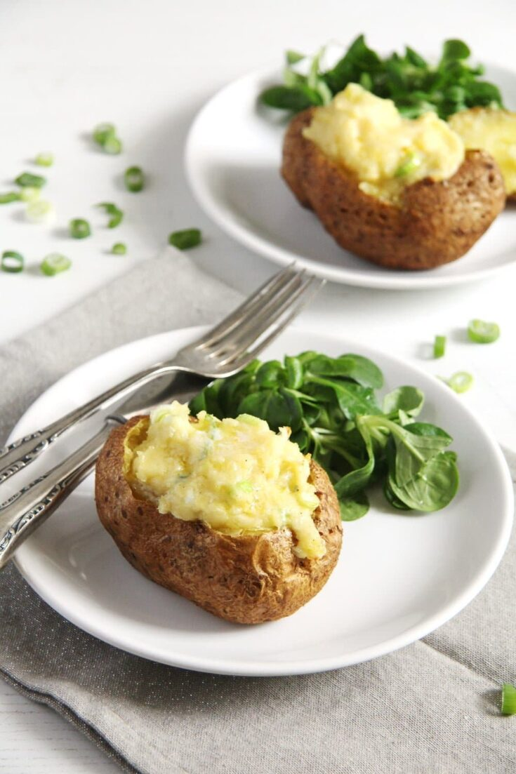 jacket potatoes gouda 735x1103 Easy Jacket Potatoes with Filling