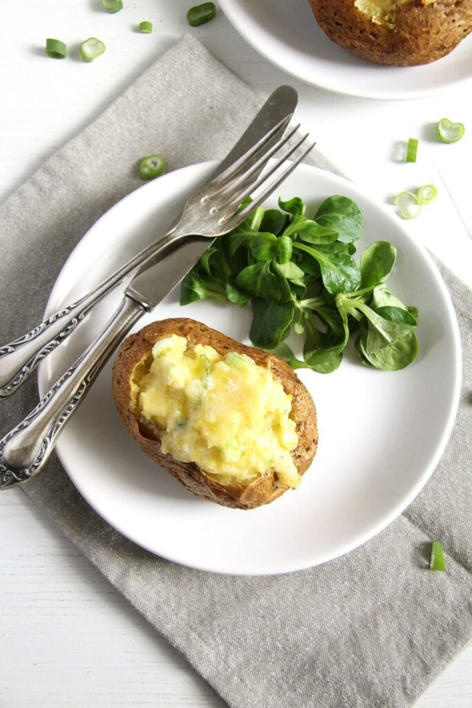 jacket potatoes scallions 683x1024 Easy Jacket Potatoes with Filling