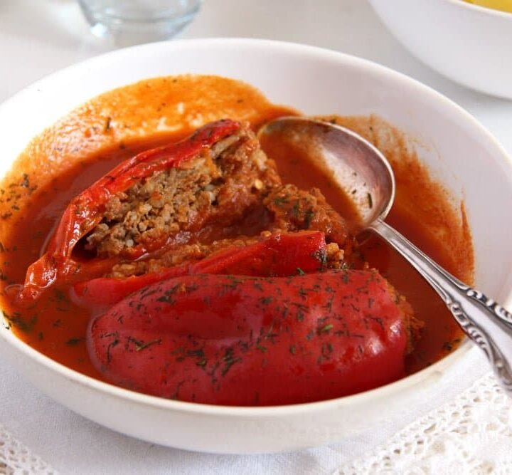 stuffed peppers with mince