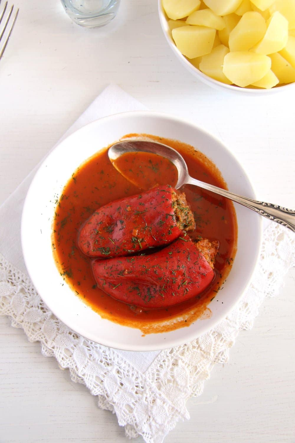 peppers stuffed Stuffed Peppers with Mince and Rice   in Tomato Sauce