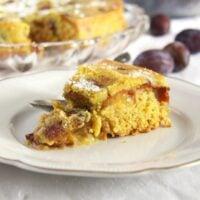 Turmeric Plum Cake