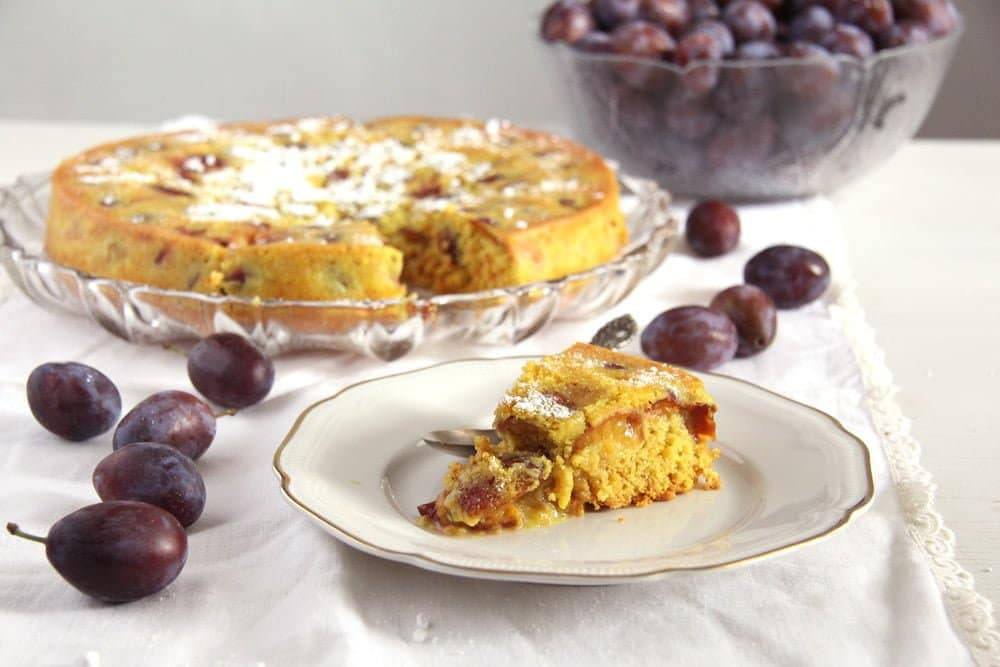 turmeric cake plum Turmeric Plum Cake with Turmeric Paste and Cinnamon