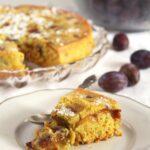 turmeric tea cake with plums