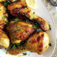 Turmeric Chicken Legs with honey glaze