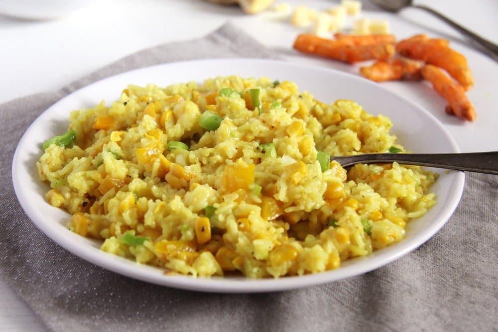 turmeric rice golden Creamy Pumpkin Gorgonzola Risotto