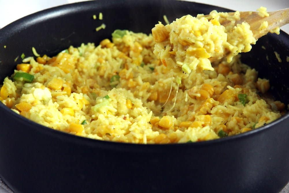 Cheesy Turmeric Rice