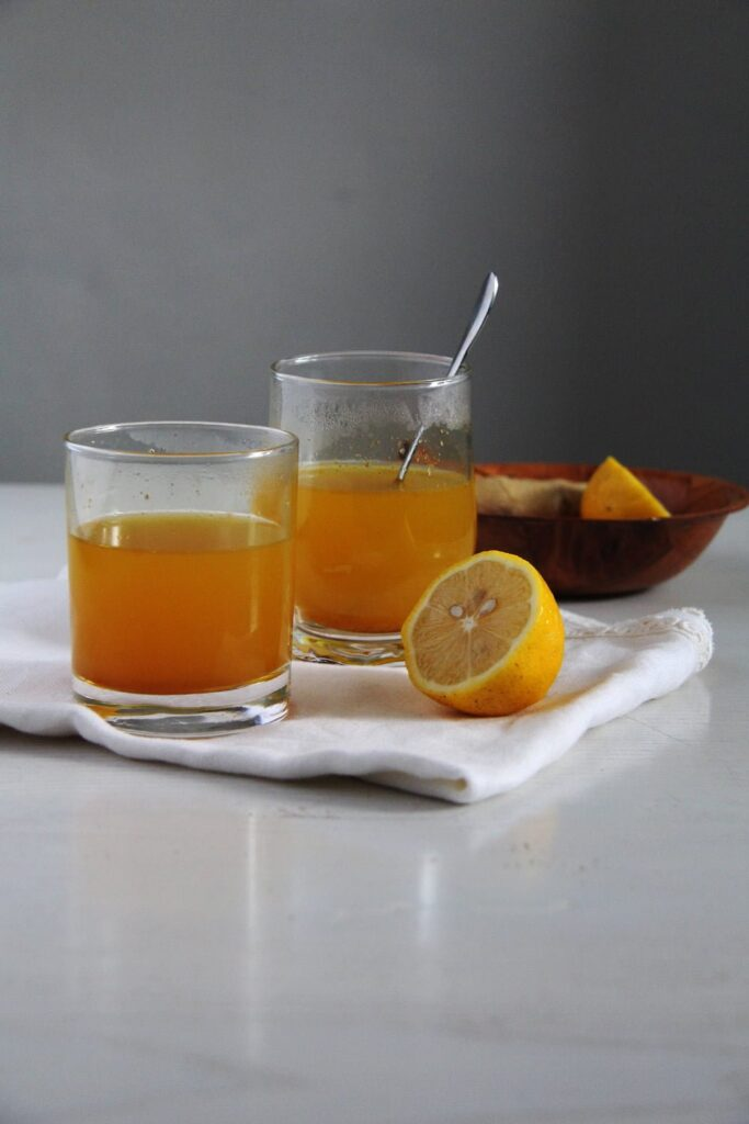 turmeric tea 683x1024 Golden Turmeric Ginger Pepper Tea for Sore Throat