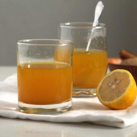 ginger turmeric tea in cups