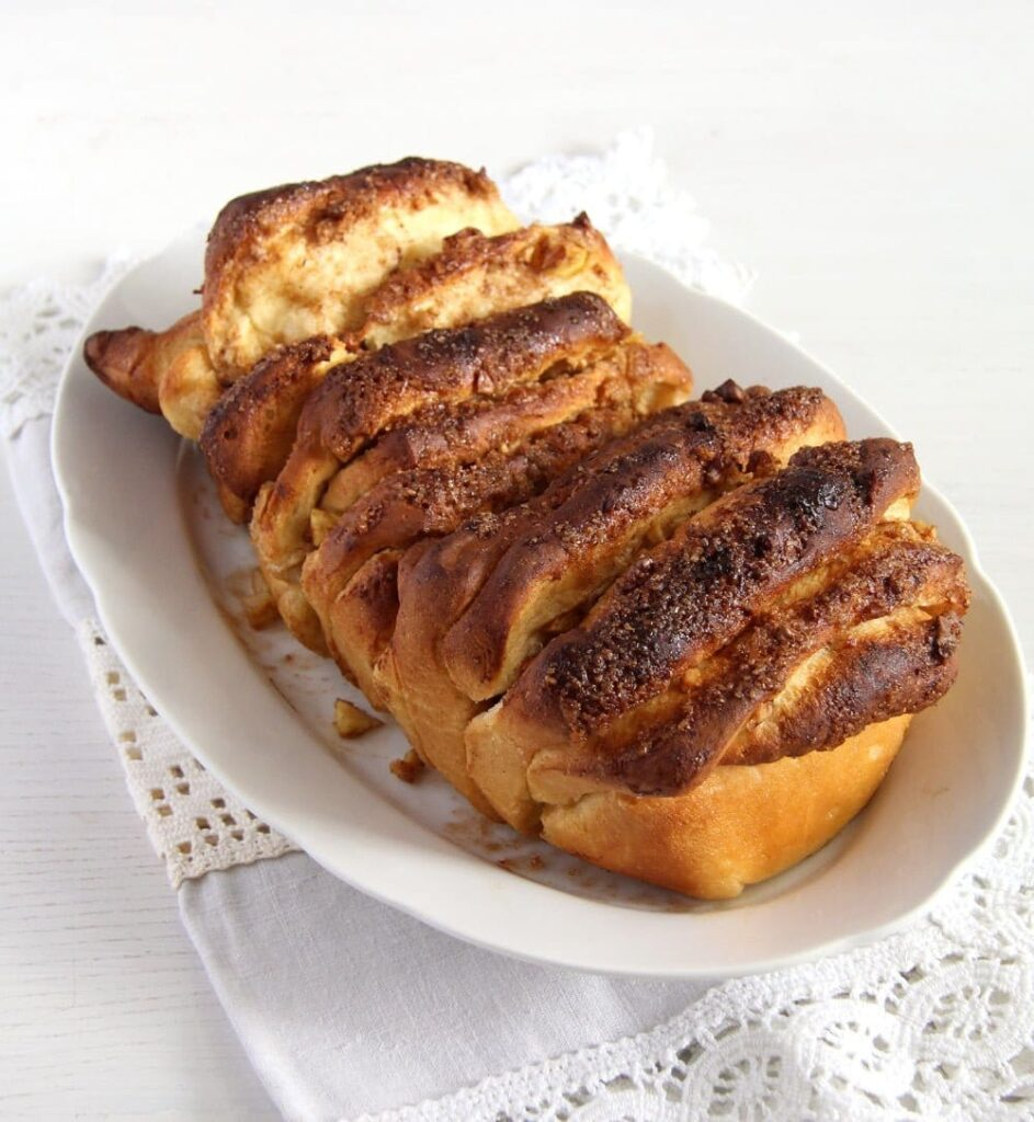 loaf of sweet apple bread with cinnamon