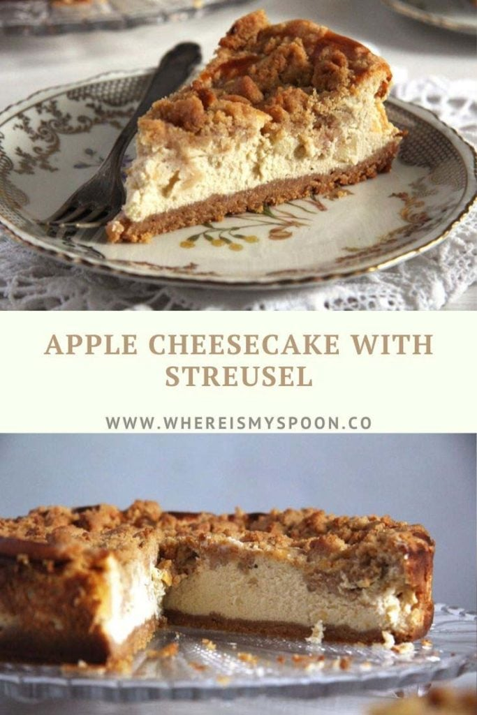 apple cheesecake with streusel 683x1024 Apple Streusel Cheesecake