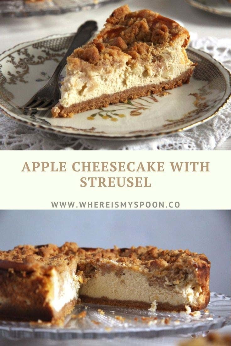 apple cheesecake with streusel 735x1102 Apple Streusel Cheesecake