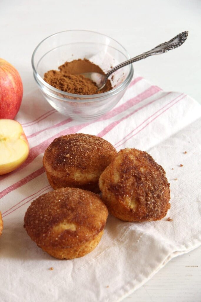 apple doughnuts muffins 683x1024 Quick Apple Cinnamon Doughnut Muffins