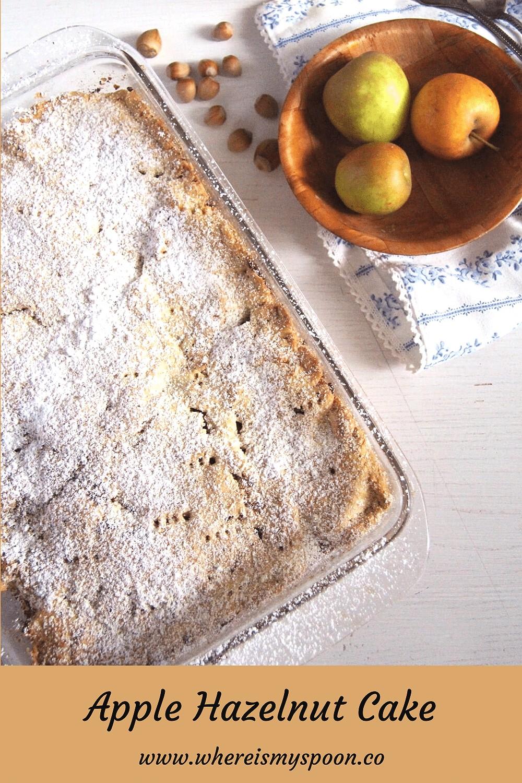 apple and hazelnut cake, Apple and Hazelnut Cake