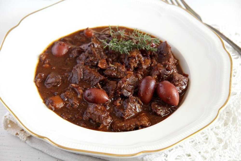 french beef stew French Beef Stew with Olives and Red Wine